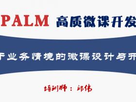 版权课:PALM高质微课开发
